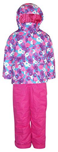 2 Piece Snowsuit Set (Pulse Little Girls' and Toddler 2 Piece Snowsuit Set Penelope (2T, Purple/Pink))