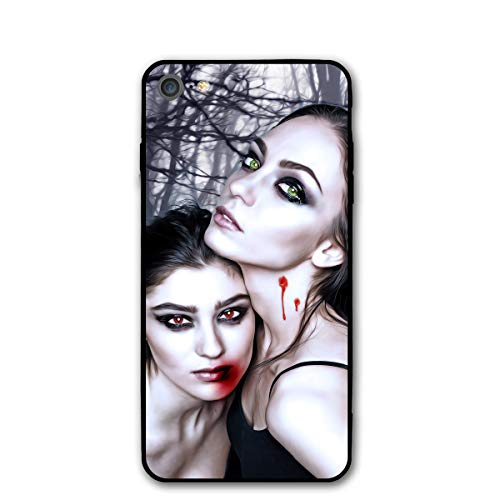 Halloween Vampire Fantasy Girl Blood Gothic Goth iPhone 7 8 Phone Case Cover Theme Decorative Mobile Accessories Ultra Thin Lightweight Shell Pattern -