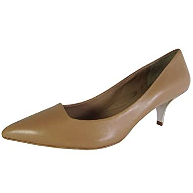 Kenneth Cole New York Womens Pearl Leather Pointed Toe Pump Shoes, Nude, US 8