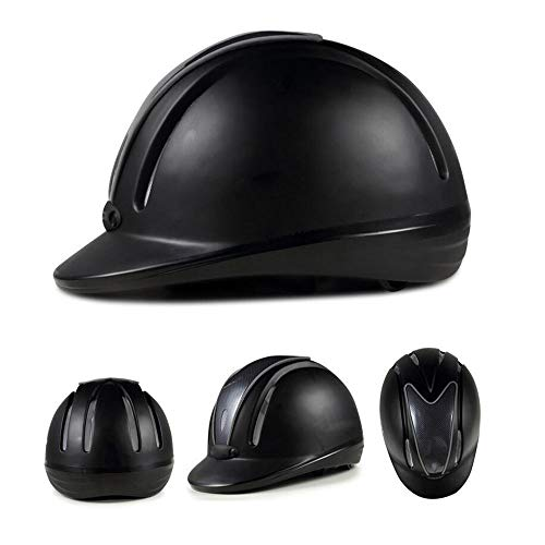 - WXH Jet Helmet Horse Riding Safety Helmet, Schooling Protective Head Gear, EPS+PC Material Tough and Durable, for Equestrian Riders,L