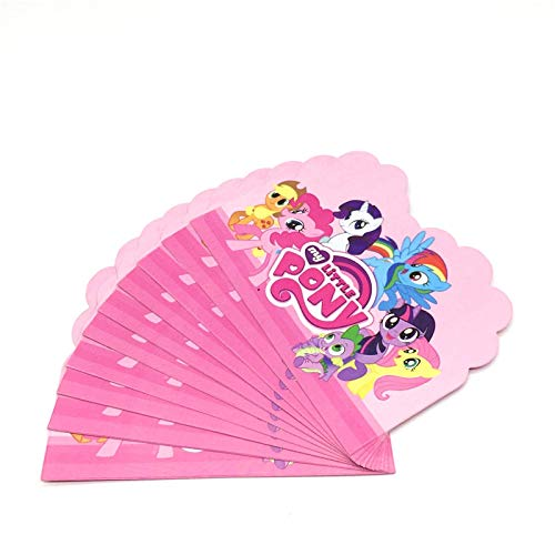 TrustBT Invitations - 10Pcs Little Pony Cartoon Party Card Invitation Kid Boy Girl Birthday Party Disposable Party Invitations Supplies -