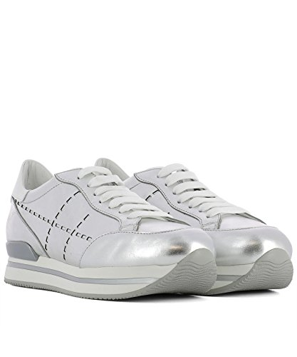 Hogan Sneakers Donna HXW2220K080I810906 Pelle Argento