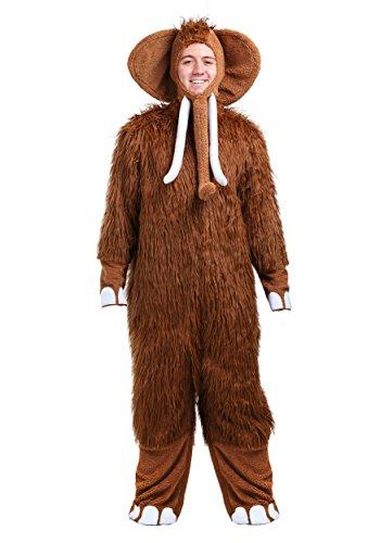 Woolly Mammoth Mens Costume Standard Brown