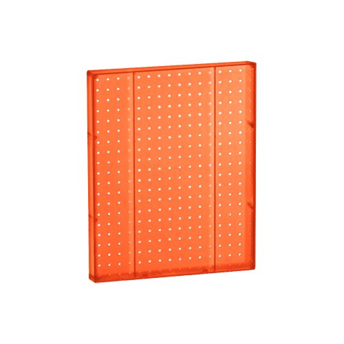 - Azar 771620-ORG Pegboard 1-Sided Wall Panel, Orange Translucent Color, 2-Pack