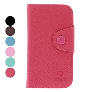 PU Leather Protective Case with Card Slot for Samsung Galaxy S3 mini I8190 --- COLOR:Black