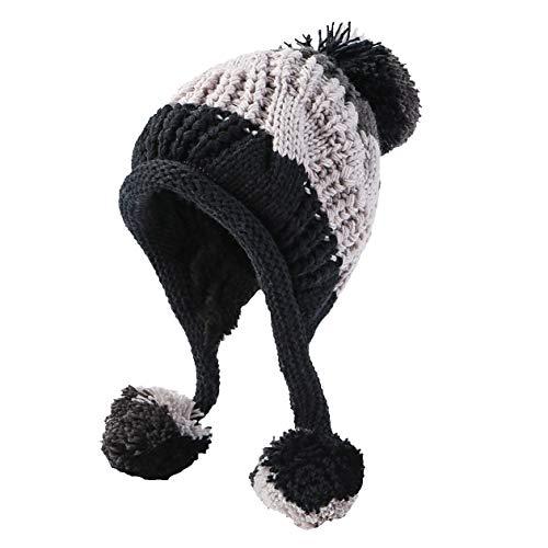 e77e58e22e9 HUAMULAN Women Winter Peruvian Beanie Hat Ski Cap Fleece Lined Ear ...
