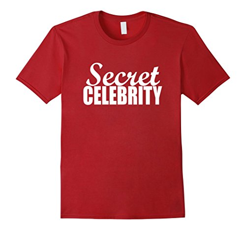 Celebrity Halloween Costume (Mens Funny Halloween Costumes | Secret Celebrity Shirt Large)
