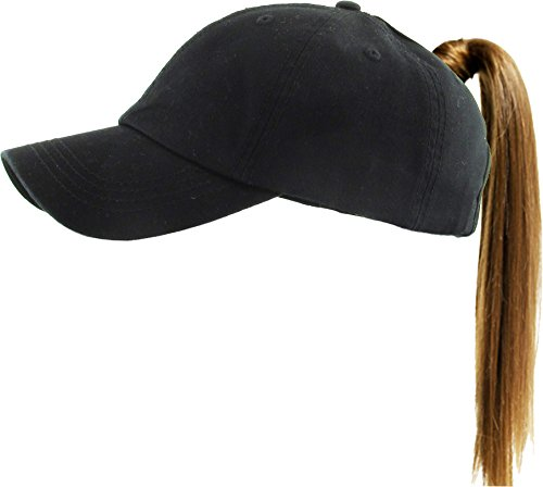 KBETHOS Classic Ponytail Hat Baseball Caps for Women Cotton and Mesh Trucker Better Made Original Tags (Adjustable, 1- Daily Black) ()