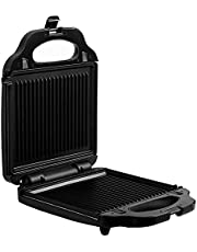 Salton 3-in-1 Pocket Sandwich Maker, Belgian Waffle Maker, and Electric Grill with Non-Stick Removable Dishwasher-Safe Plates, Indicator Lights, Cord Wrap and Upright Storage
