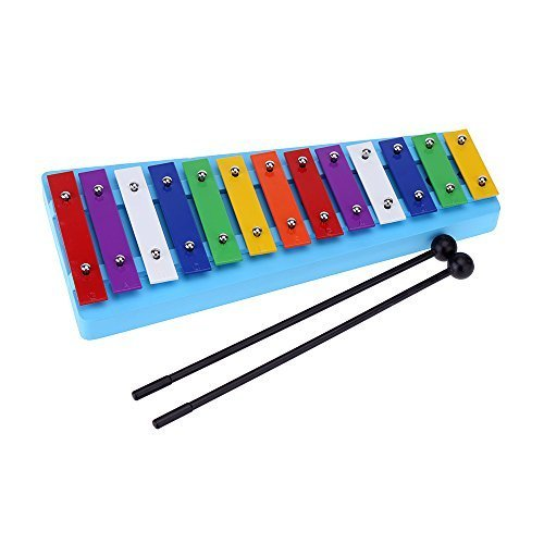 Andoer 13 Bar Kid's Glockenspiel Xylophone Colorful Note of Educational Percussion Instrument Rhythm Toy for Baby Toddler Children by Andoer
