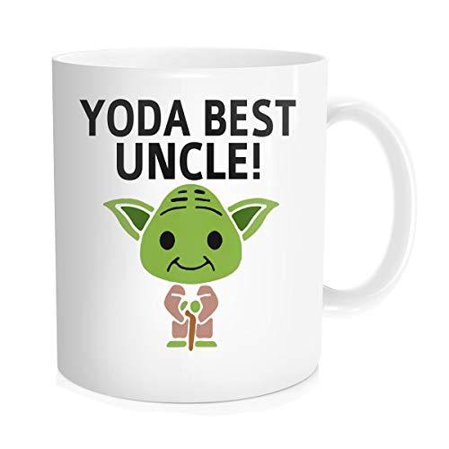 Chilltreads Yo-da Best Uncle Coffee Mug, Cute Star Fans Cup, Funny Uncle Birthday Gift, Yo-da Uncle, 11oz White