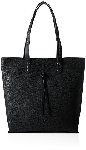Tom Tailor Acc Ellen - Shoppers y bolsos de hombro Mujer Negro (Schwarz)