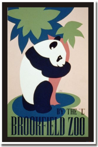 Visit the Brookfield Zoo, Vintage Reproduction, WPA Poster -