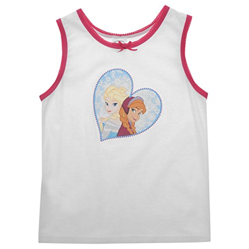 Disney Frozen Westen 3Pack Kinder weiß Charakter Weste Singlet Shirt