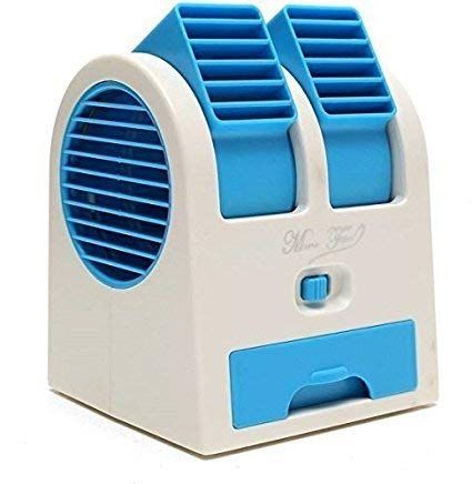 KLIVORY Mini Fan & Portable Dual Bladeless Small Water Air Cooler Conditioner Multicolor
