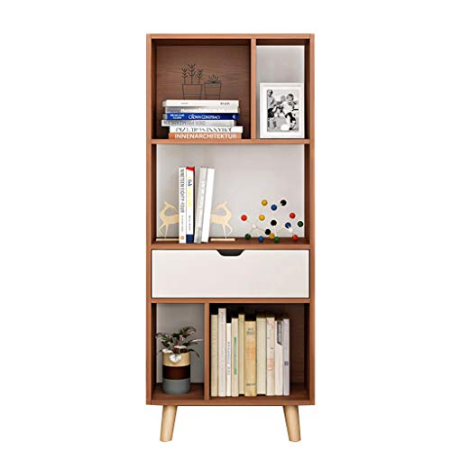 Storage Furniture 123 - BOOK CASE Bookshelves Bookshelf Bookcase Simple Living Room Storage Rack Office Rack Study Bookcase bookcases Furniture (Color : Brown, Size : 123x50x25cm)