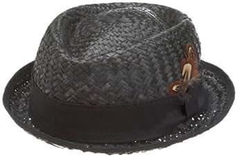 San Diego Hat Company Men's Straw Sun Hat,Black,Large