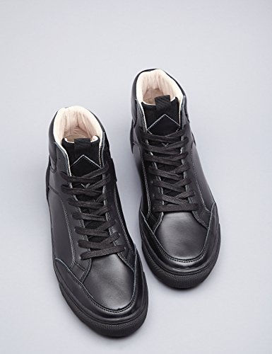 Collo Sneaker Nero Black in Uomo Alto a FIND Pelle qTwdET
