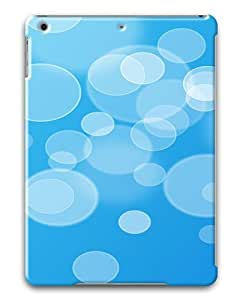 iPad Air Cases & Covers -White Circle And Blue Background Custom PC Hard Case Cover for iPad Air