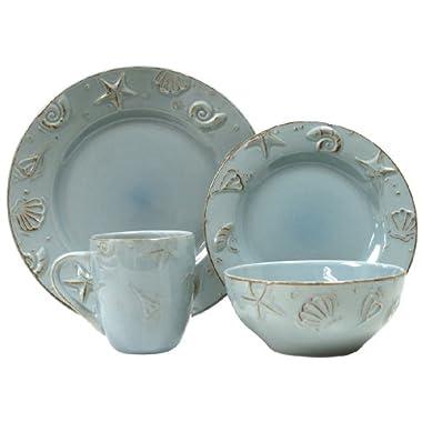 Thomson Pottery 16-pc. Cape Cod Set AQUA BLUE