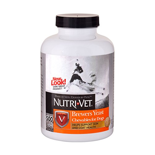 (Nutri-Vet Brewers Yeast with Garlic Chewables, 500 Count)