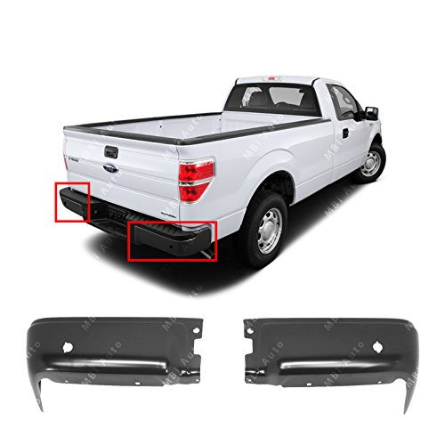 F-body Rear End (MBI AUTO - Primered, Steel Pair of Left & Right Rear Bumper End Caps for 2009-2014 Ford F150 Pickup 09-14, FO1102373)