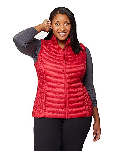 32 DEGREES Womens Ultra-Light Down Packable Vest, Carmine Red, Size Large