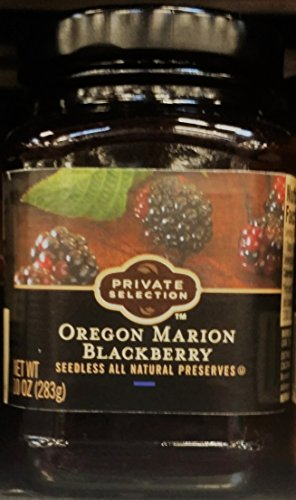 Private Selection Oregon Marion Blackberry Seedless All Natural Preserves 10 oz (Pack of 2)