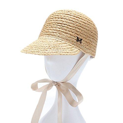 Straw Hats for Women Raffia Belt Baseball Sun Visor Girls Black Wholesale Beach (Straw Hats Wholesale)