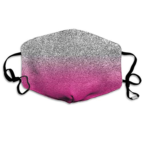 Glitter Neon Pink Mouth Mask Face Mask For Men And Women Dustproof Anti Pollution Half Face Mask Washable Reusable Muffle Mask For Running Cycling Camping Travel