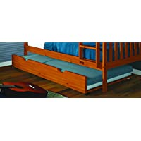 DONCO Kids 503-CN Roll Out Trundle Bed, Twin, Cinnamon