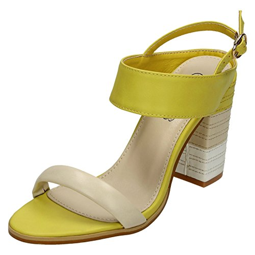 Spot On , Damen Sling Backs Yellow Multi