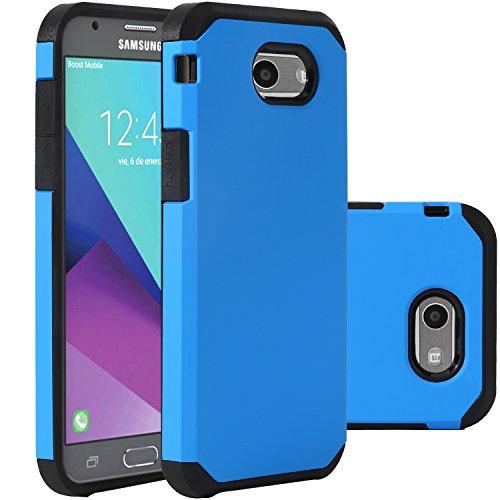Blue Samsung Galaxy J3 Emerge Case/J3 Prime/J3 2017/Amp Prime 2/Express Prime 2/Sol 2/J3 Luna Pro/J3 Eclipse/J3 Mission Case, LUHOURI Hybrid Armor Rugged Defender Protective Case Cover