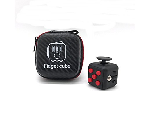[New Arrival Fidget Cube Anxiety Stress Relief Focus Puzzles Magic Toys Gift. (Black/Pink)] (Dog Costume Carrying Gift Video)
