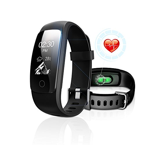 Fitness Tracker with Heart Rate Monitor, DBFIT Activity Tracker Smart Watch with Sleep Monitor, IP67 Water Resistant Walking Pedometer Band with Call/SMS Remind for iOS/Android Smartphone (Black)