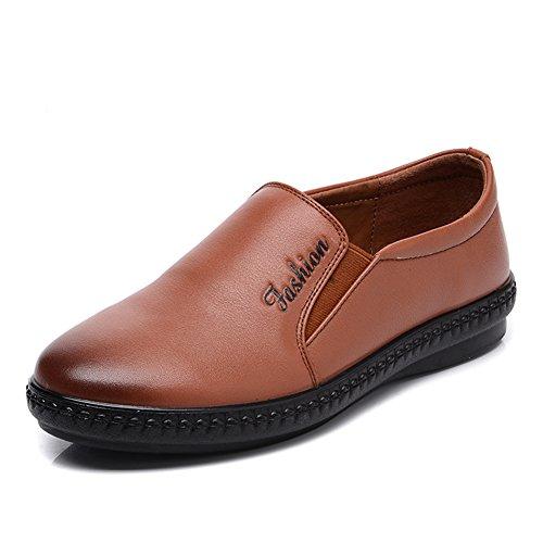 Zapatos de mamá/Zapatos de fondo suave/ zapatos de mediana edad de la mujer casual/Mocasín/ zapatos de pies mujer A