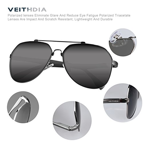 43ca1d5e795 best VEITHDIA 3598 Adjustable HD Polarized Aviator Sunglasses for Fishing  Driving