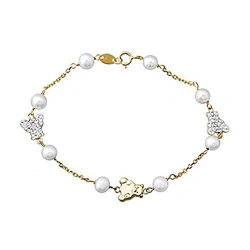 Bracelet 18k or 5.5mm de perles de culture porte 1ère communion [AA6647]