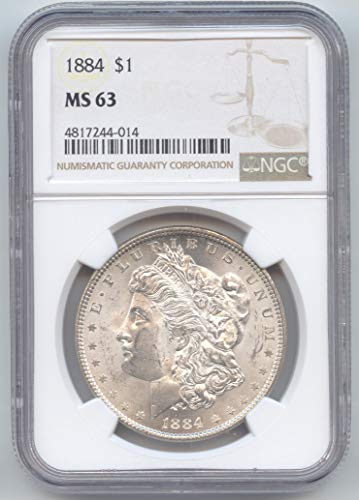 1884 Morgan Dollar MS-63 NGC