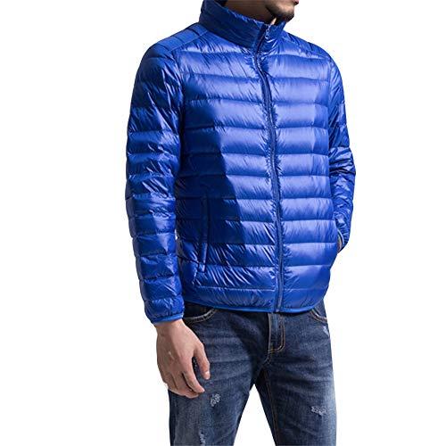 Short Casual Men Puffer Weight Outerwear Bubble Warm Down Coat Light Padded Packable Sappblueli Ultra Winter Jacket UwUaq5d