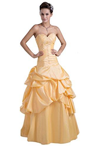 Angel Formal Dresses Sweetheart Pick Ups Crystals Daffodil Wedding Dress(18,Ivory)