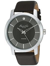 Kenneth Cole Men's Classic KC8069 Dark Grey Leather Quartz Watch
