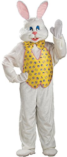 Scary Easter Bunny Costumes (UHC Easter Bunny Deluxe Jumpsuit Funny Comical Theme Halloween Fancy Costume, XL (44-46))
