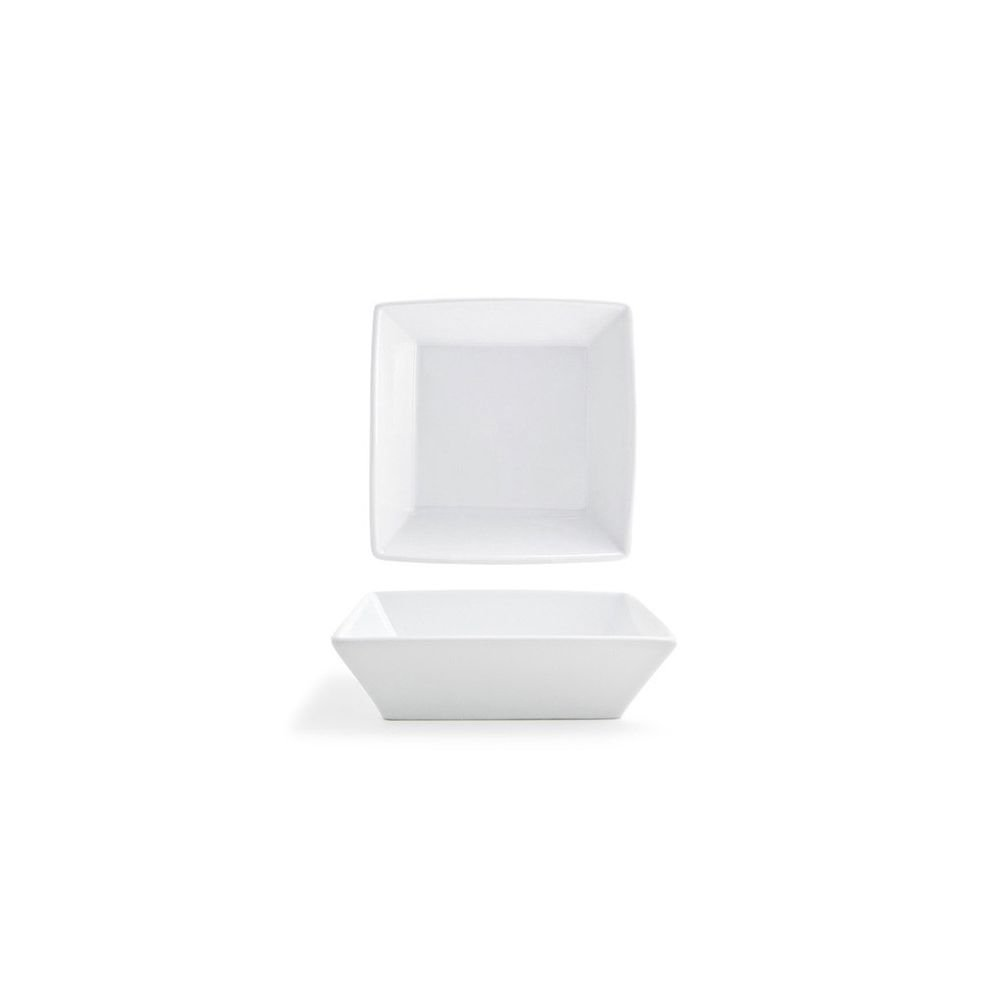 Front of the House DBO064WHP23 Kyoto Square Bowl, 2'' Height, 7'' width, 7'' Length, 26 oz, Porcelain (Pack of 12)