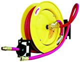 Amflo 515HR-RET Automatic Open Hose Reel With 250 PSI 1/2'' x 50' Red Rubber Air Hose