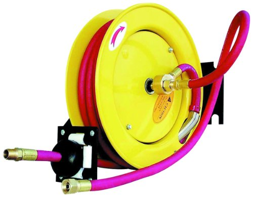 Amflo 515HR-RET Automatic Open Hose Reel With 250 PSI 1/2'' x 50' Red Rubber Air Hose by Amflo