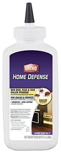 Ortho Available 0202410 Home Defense Max Bed Bug, Flea and Tick Killer Powder, 12 OZ