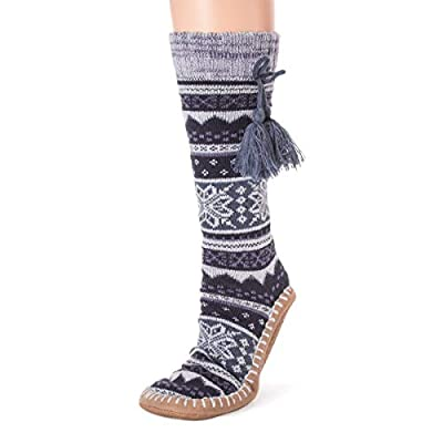 MUK LUKS Women's Slipper Socks with Tassels at Women's Clothing store