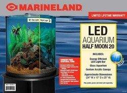 Half Moon Aquarium Kit - Marineland 20 Gal Half Moon Combo 1ea