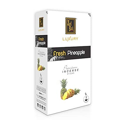 Zed Black Luxury Pineapple Incense Sticks - Pack of 12 - Fragrance Sticks